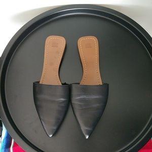 Zara leather slides